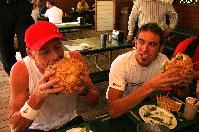 Conrad Stoltz Matt Lieto burger eating contest