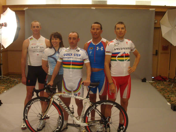 Conrad Stoltz Caveman (XTERRA), Rebecca Rusch (24hr), Paolo Bettini (Road), Chris McCormack (Ironman), Christophe Sauser (Mountainbike)