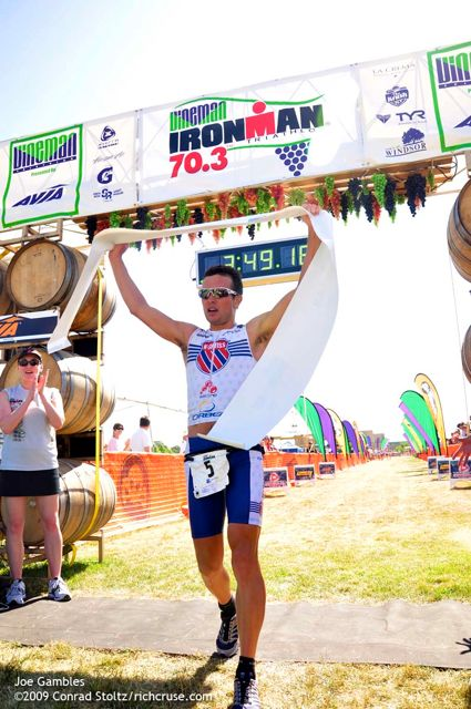 Joe Gambles Vineman Ironman 70.3 Winner