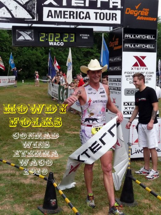 Conrad Stoltz winning XTERRA Waco 201