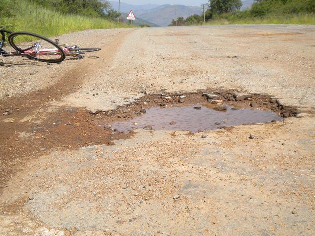 Conrad Stoltz South Africa training potholes