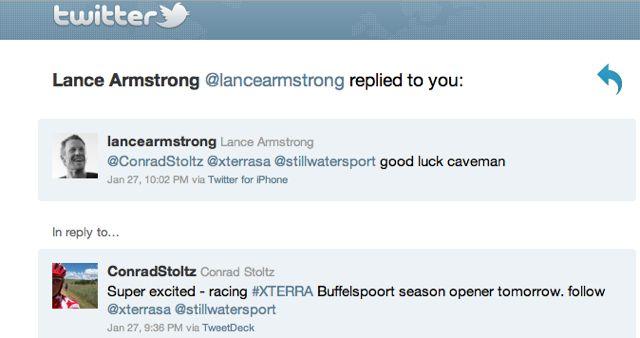 conrad-stoltz-lance-armstrong-tweet