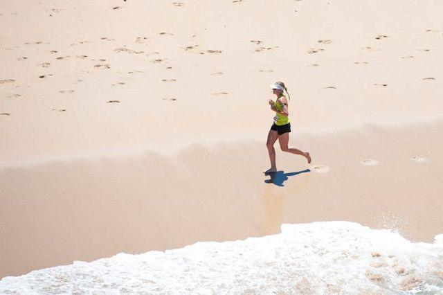 Liezel Stoltz Total Sports Challenge 2013 beach run
