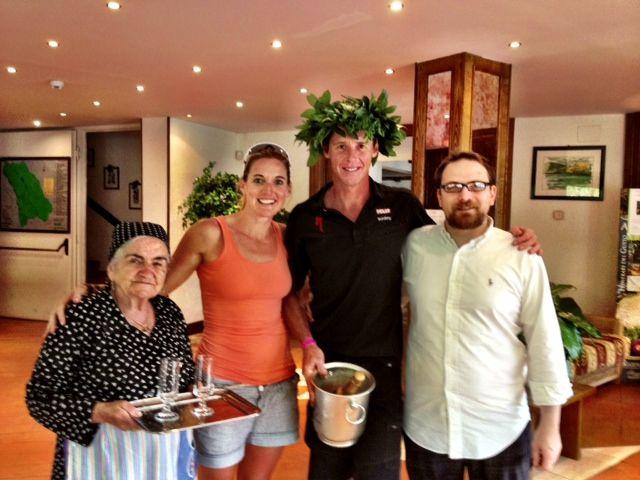 Conrad Stoltz Caveman XTERRA Italy Scanno Aquavive Hotel hosts