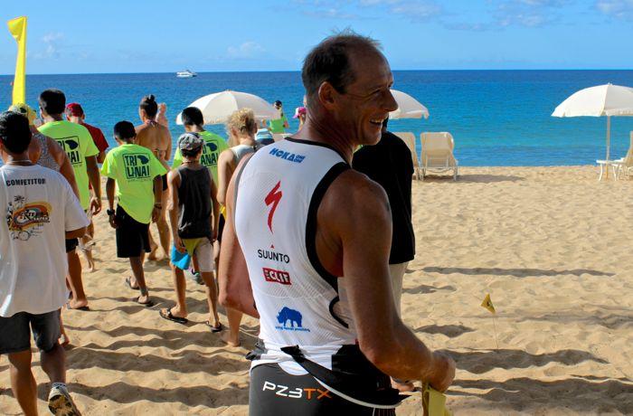 Conrad Stoltz TriLanai swim start