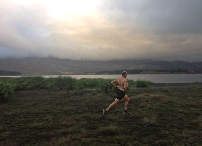 Conrad Stoltz Caveman Hoka One One Mafate 3 Xterra Grabouw run course marsh