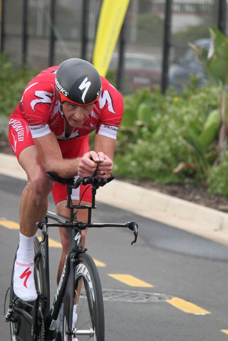 Conrad Stoltz Caveman SA TT Champs 2014 Specialized Shiv TT Specialized McLaren, Rotor XQL, Squirt Chain lube