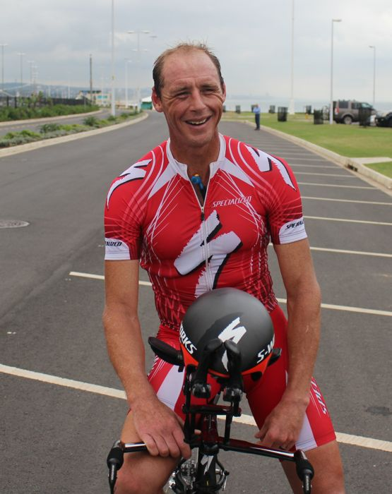 "Conrad Stoltz Caveman SA Time Trial Champs 2014  laughing double ""O"" M"