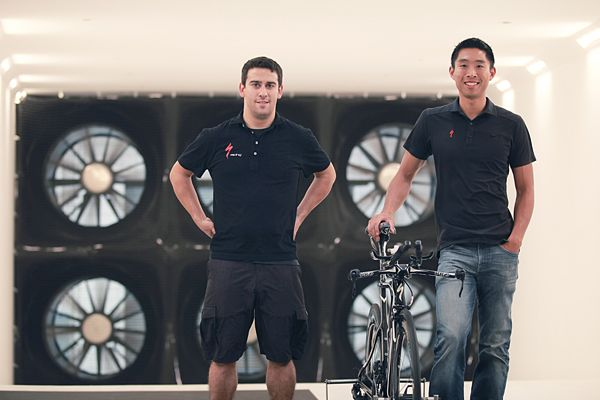 Mark Cote Chris Yu Specialized Win Tunnel Conrad Stoltz