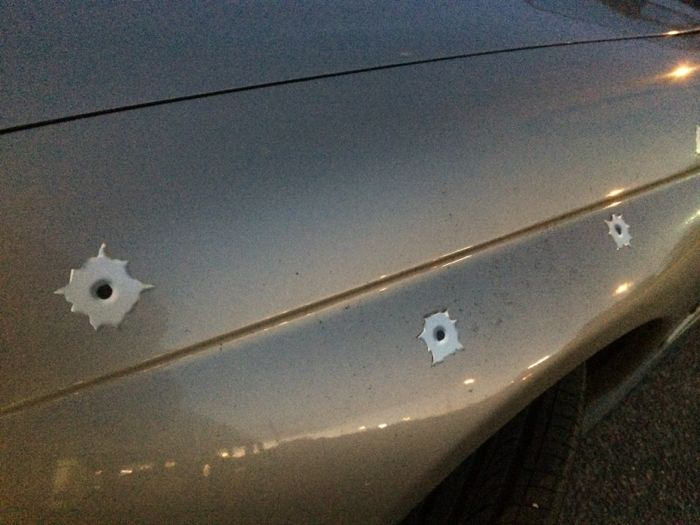 Conrad Stoltz Caveman XTERRA Asia Pacific Champs Australia Aussie car art rocks bullet holes