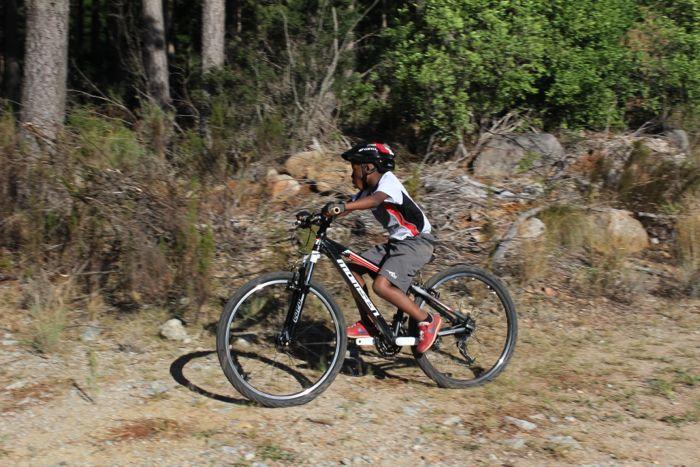Conrad Stoltz Caveman MTB Skills clinic Kanyisa