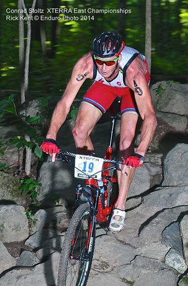 Conrad Stoltz Caveman XTERRA Richmond Specialized Epic Rock drop Reedy Creek Oakley Supacaz