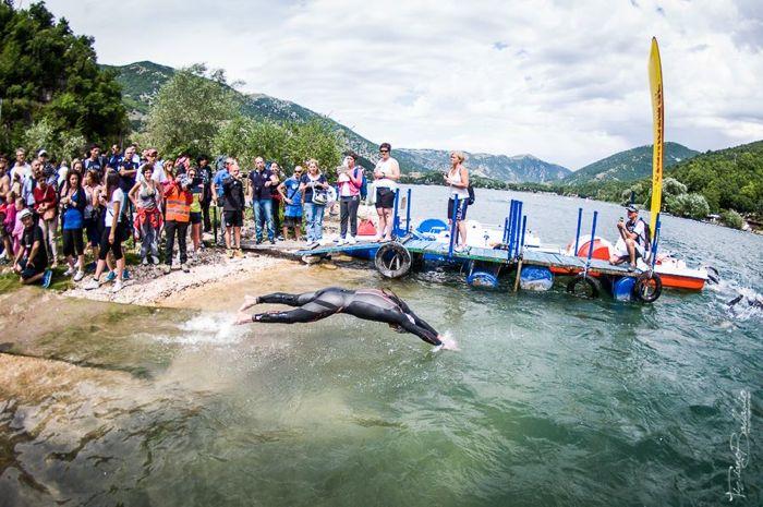 Conrad Stoltz Caveman XTERRA Italy 2014 Swim