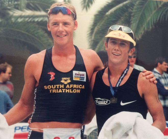 Conrad Stoltz Lieuwe Boonstra 1998 ITU African Triathlon Championships Swakopmund Namibia