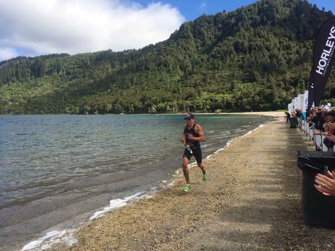 Braden Currie XTERRA Rotorua run Conrad Stoltz