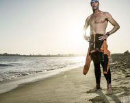 Wetsuit on beach